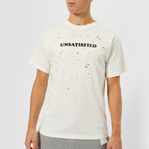Satisfy Men's Unsatisfied Moth Eaten T-Shirt - Off White