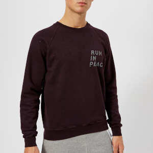 Satisfy Men's R.I.P Moth Eaten Sweatshirt - Dark Plum