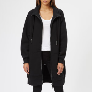 T by Alexander Wang Women's Heavy French Terry Oversized Full-Zip Sweatshirt - Black
