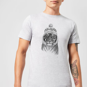 Balazs Solti Winter Tiger Men's T-Shirt - Grey