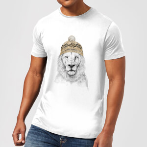 Balazs Solti Lion With Hat Men's T-Shirt - White