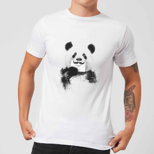 Balazs Solti Moustache And Panda Men's T-Shirt - White