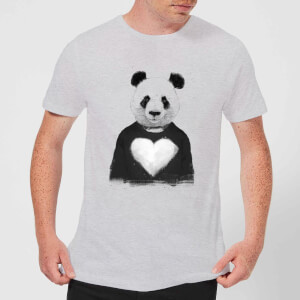 Balazs Solti Panda Love Men's T-Shirt - Grey
