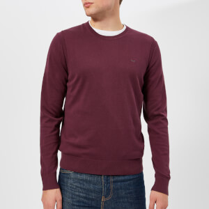 Michael Kors Men's Cotton Crew Neck Knitted Jumper - Cordovan
