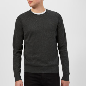 Michael Kors Men's Cotton Crew Neck Knitted Jumper - Charcoal
