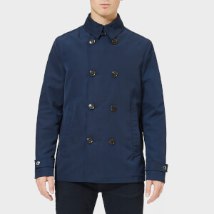 Michael Kors Men's Nylon Pea Coat - Navy