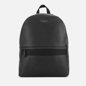 Ted Baker Men's Rickrak Webbing Strap Leather Backpack - Black