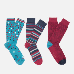 Ted Baker Men's Wintr Three Pack Socks - Assorted