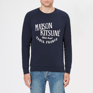 Maison Kitsuné Men's Palais Royal Crew Sweatshirt - Navy