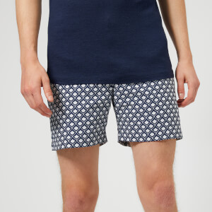 Orlebar Brown Men's Bulldog X Jacquard Swim Shorts - Blue