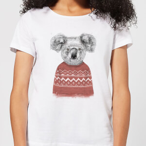 Balazs Solti Koala And Jumper Women's T-Shirt - White
