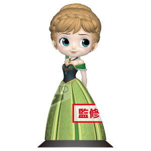 Figurine La Reine des neiges Anna Princesse 14 cm (Version Pastel ) Disney - Banpresto Q Posket