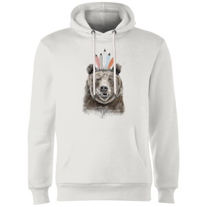 Balazs Solti Native Bear Hoodie - White