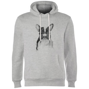 Balazs Solti Masked Bulldog Hoodie - Grey