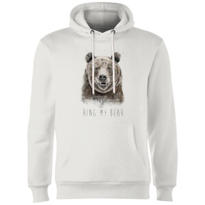 Balazs Solti Ring My Bear Hoodie - White