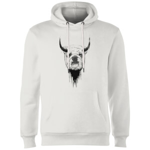 Balazs Solti English Bulldog Hoodie - White