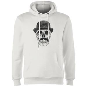 Balazs Solti Monocle Skull Hoodie - White