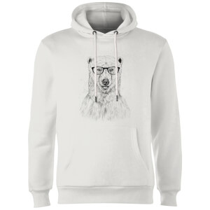 Balazs Solti Polar Bear And Glasses Hoodie - White