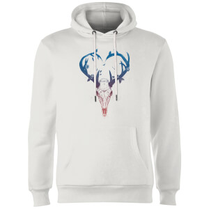 Balazs Solti Antlers Hoodie - White