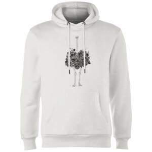 Balazs Solti Ostrich Hoodie - White