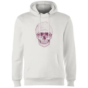 Balazs Solti Skull Hoodie - White