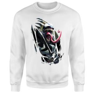 Venom Chest Burst Sweatshirt - White