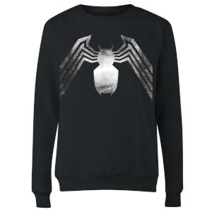 Venom Chest Emblem Women's Sweatshirt - Black