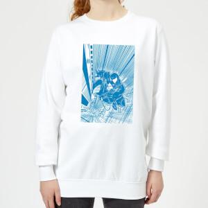 Venom Comic Panel Women's Sweatshirt - White