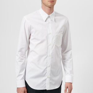 Maison Margiela Men's Plastic Pocket Poplin Shirt - White
