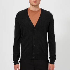 Maison Margiela Men's Elbow Patch 14 Gauge Cardigan - Charcoal