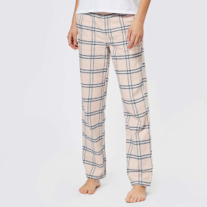 Superdry Women's Millie Loungewear Pants - Pink Check