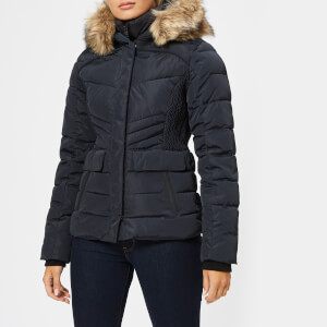 Superdry Women's Glacier Biker Jacket - Luxe Navy