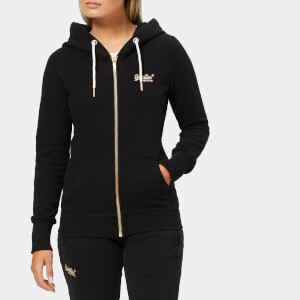 Superdry Women's Orange Label Elite Zip Hoodie - Black