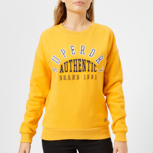 Superdry Women's Urban Street Applique Crew Neck Sweatshirt - Sporty Ochre