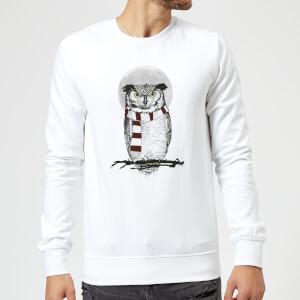 Balazs Solti Owl And Moon Sweatshirt - White
