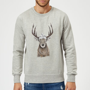 Balazs Solti Winter Deer Sweatshirt - Grey