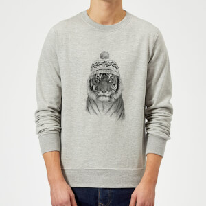 Balazs Solti Winter Tiger Sweatshirt - Grey