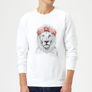 Balazs Solti Lion And Flowers Sweatshirt - White