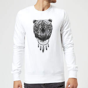 Balazs Solti Dreamcatcher Bear Sweatshirt - White