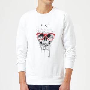 Balazs Solti Skull And Glasses Sweatshirt - White