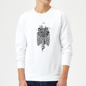 Balazs Solti Ribcage And Flowers Sweatshirt - White