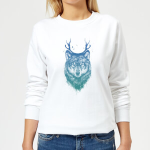 Wolf Women's Sweatshirt - White