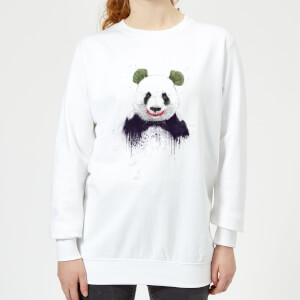 Joker Panda Women's Sweatshirt - White