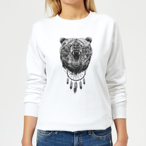 Dreamcatcher Bear Women's Sweatshirt - White