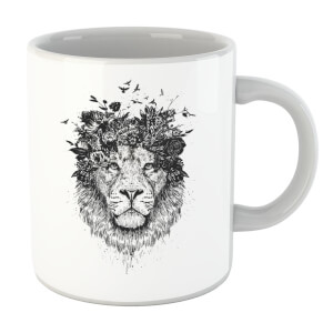 Balazs Solti Lion And Flowers Mug