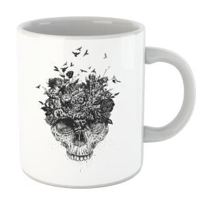 Balazs Solti Skulls And Flowers Mug