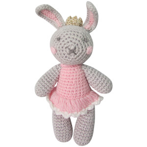 Albetta Crochet Beatrice Bunny Rattle Toy