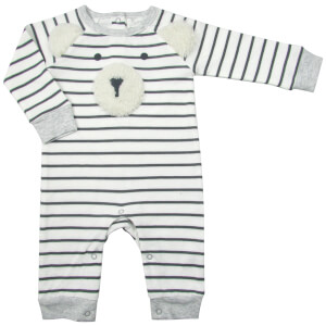 Albetta Polar Bear Stripe Babygrow - 0-3 Months