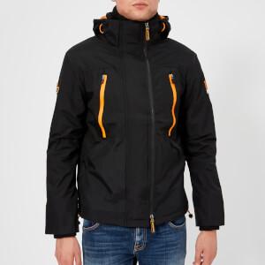 Superdry Men's Hooded Polar Wind Attacker Jacket - Black/Orange