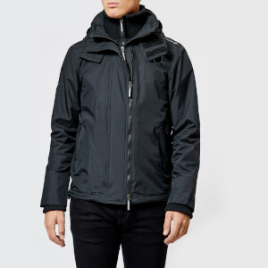 Superdry Men's Arctic Hood Popzip Windcheater Jacket - Black